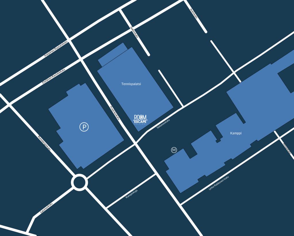 Room Escape Helsinki  kartta